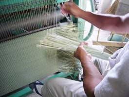七島藺草の製織