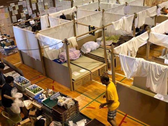 西日本豪雨災害の避難所