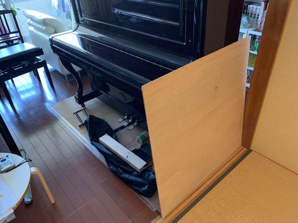 ピアノをリビングへ移動