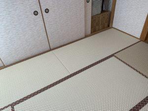 ダイケン市松表 乳白色×白茶色 今様30 全景B