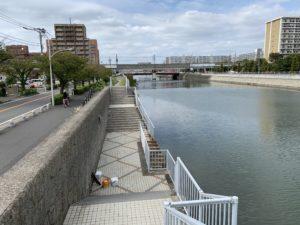 境川の釣り場
