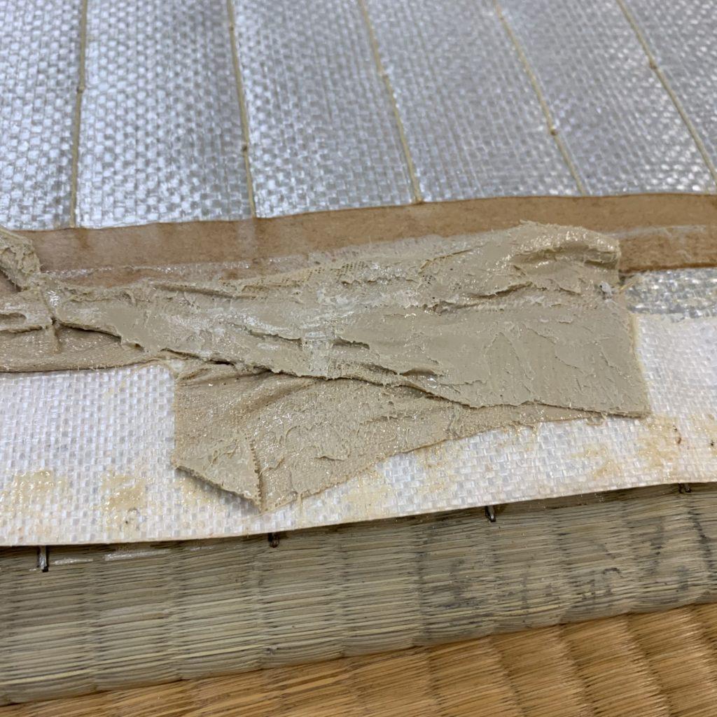 両面テープが付いた薄畳