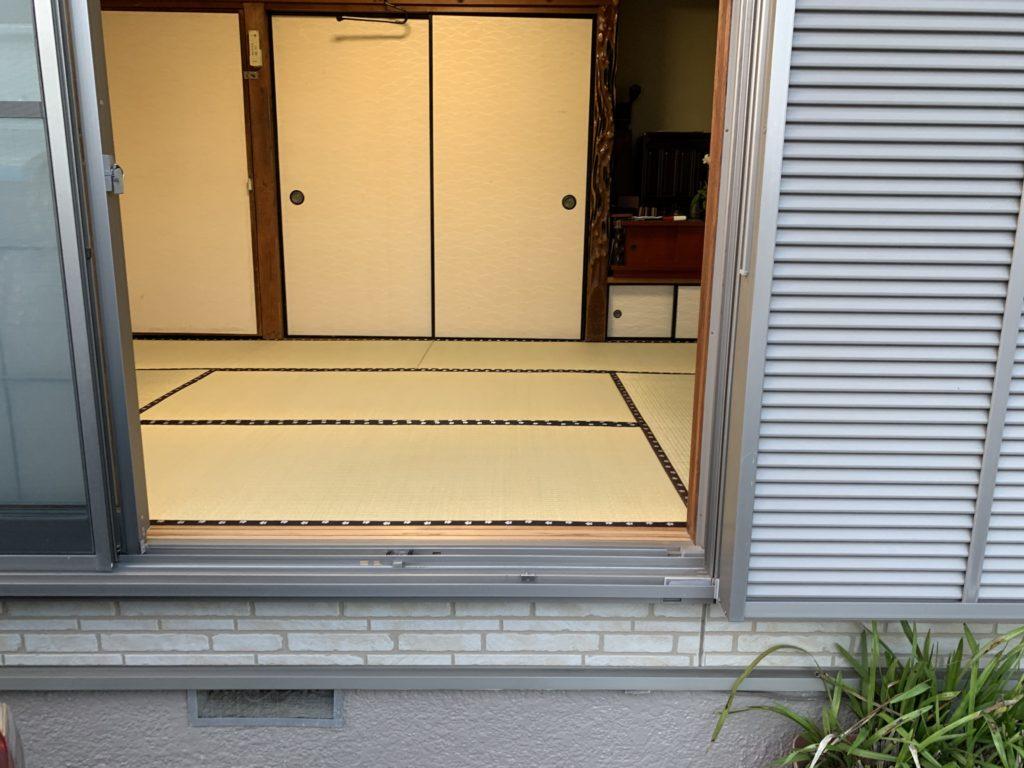 車庫からの写真