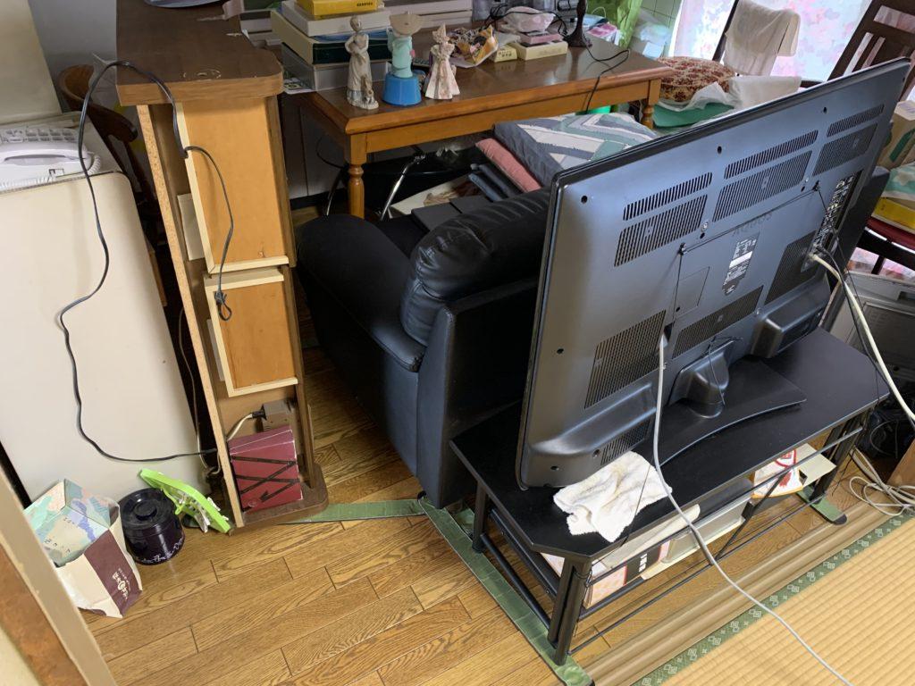 家具を台所に移動
