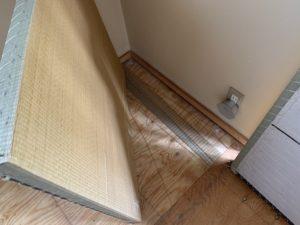 琉球畳の表替え